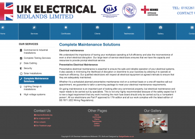 Complete Maintenance Solutions Page