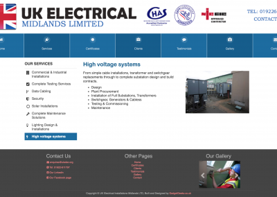 High Voltage Systems Page