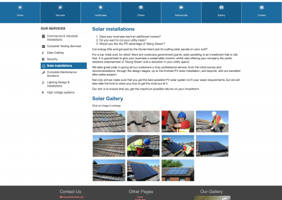 Solar Installations Page